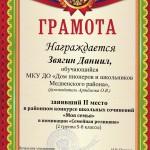 Звягин Д., к-с сочинений 3 место
